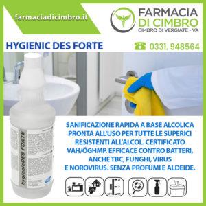 hygienicDES FORTE Sanitizzante superfici e veloce